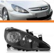 Farol Peugeot 307 2002 2003 2004 05 06mascara Negra Direito