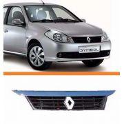Grade Renault Symbol Completa Com Friso+emblema   Novo