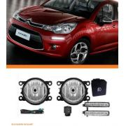 Kit Farol Milha Citroen C3 2013 2014 Day Light
