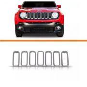 Kit Friso Cromado Grade Jeep Renegade Frontal