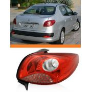 Lanterna Peugeot 207 2008 A 2013 Tela Vermelha Direita