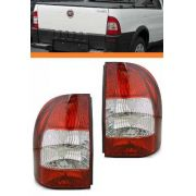 Lanterna Traseira Fiat Strada 2005 06 07 08 Bicolor  Par