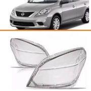 Lente Farol Nissan Versa 2011 2012 2013 2014 Par