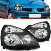 Par Farol Renault Clio 2003 2004 2005 06 Máscara Negra