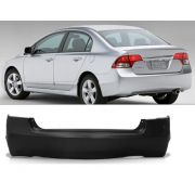 Parachoque Traseiro Honda New Civic 2006/12 Preto Liso