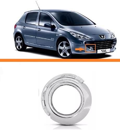 Aro Moldura Cromada Peugeot 307 07 08 09 10 11 12 Direito  - Kaçula Auto Peças
