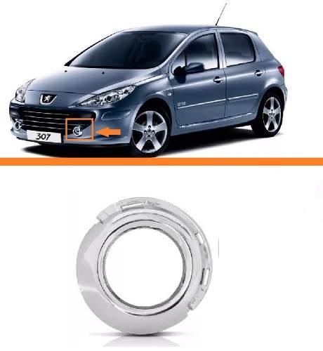 Aro Moldura Cromada Peugeot 307 07 08 09 10 11 12 Esquerdo  - Kaçula Auto Peças