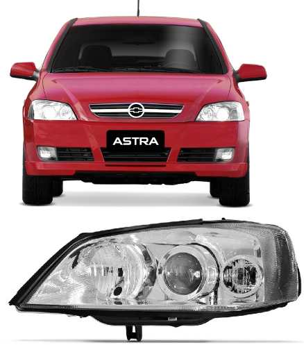 Farol Astra Esquerdo 2003 A 2011 Cromado  - Kaçula Auto Peças