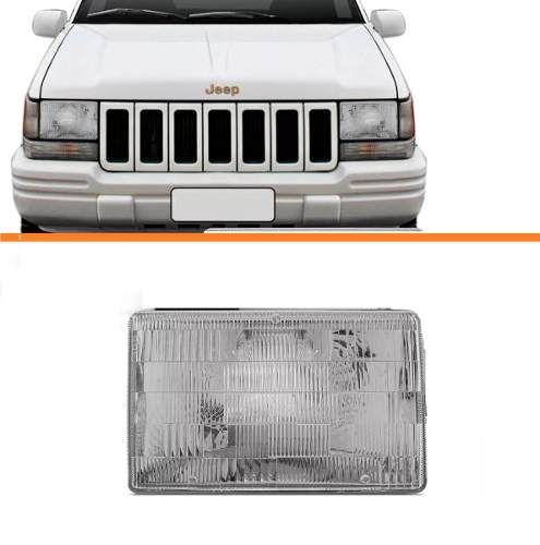 Farol Cherokee 93 94 95 96 97 98 99 Esquerdo  - Kaçula Auto Peças
