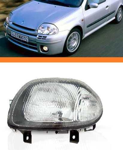 Farol Clio 2000 2001 2002 Foco Simples Lado Esquerdo  - Kaçula Auto Peças