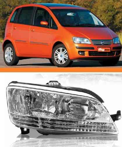 Farol Direito Fiat Idea 2005 2006 2007 2008 2009 2010 Ld  - Kaçula Auto Peças
