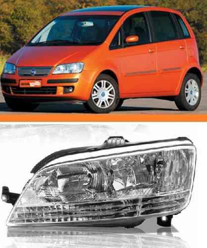 Farol Direito Fiat Idea 2005 2006 2007 2008 2009 2010 Le  - Kaçula Auto Peças