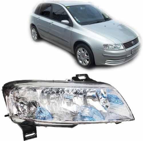 Farol Fiat Stilo 2003 2004 2005 2006 07 08 Plug Quadrado Ld  - Kaçula Auto Peças