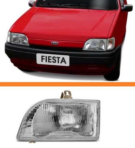 Farol Fiesta 93 94 95 96 Espanhol Foco Simples Esquerdo Tyc  - Kaçula Auto Peças