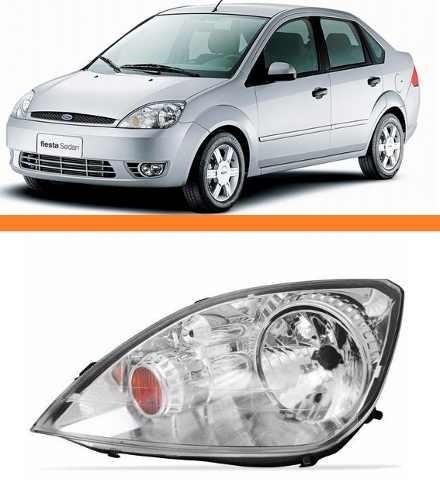 Farol Fiesta Hatch Sedan 2003 2004 2005 2006 2007 Esquerdo  - Kaçula Auto Peças