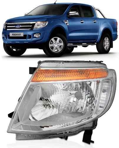 Farol Ford Ranger 2012 2013 2014 Novo Lado Esquerdo  - Kaçula Auto Peças