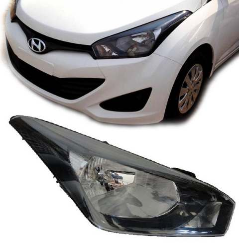 Farol Hyundai Hb20 Mascara Negra 2012 2013 Novo Importado Ld  - Kaçula Auto Peças