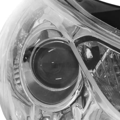 Farol Hyundai Sonata 2010 2011 2012 Máscara Cromada Esquerdo  - Kaçula Auto Peças
