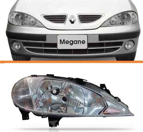 Farol Megane 2000 2001 2002 2003 2004 2005 Direito Simples  - Kaçula Auto Peças