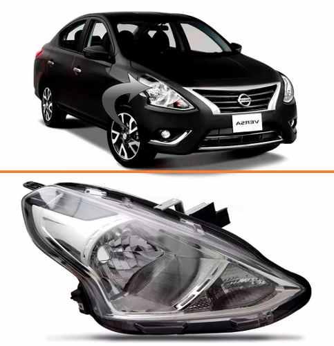 Farol Nissan Versa 2015 2016 17 Cromado Direito  - Kaçula Auto Peças