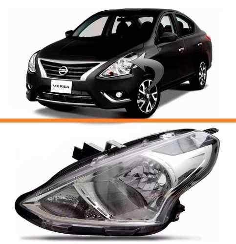 Farol Nissan Versa 2015 2016 17 Cromado Esquerdo  - Kaçula Auto Peças