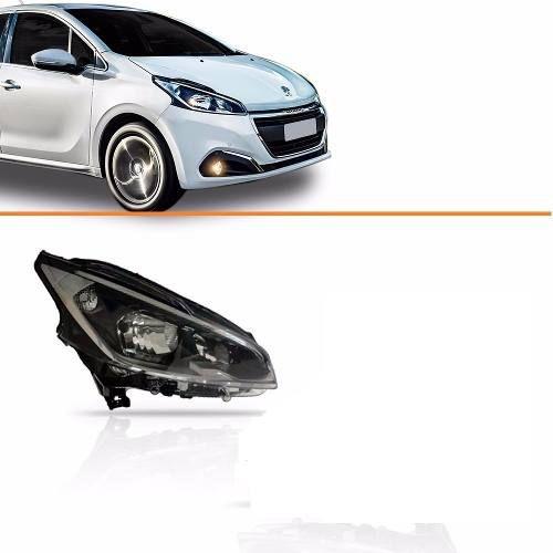 Farol Peugeot 208 C/ Led 13 14 15 Original M/negra Direito  - Kaçula Auto Peças