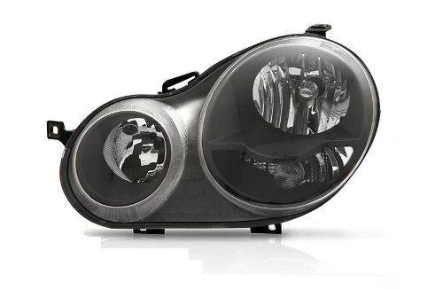 Farol Polo Mascara Negra 03 06 Lado Esquerdo  - Kaçula Auto Peças