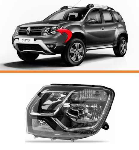 Farol Renault  Duster 2015 2016 2017 Esquerdo  - Kaçula Auto Peças