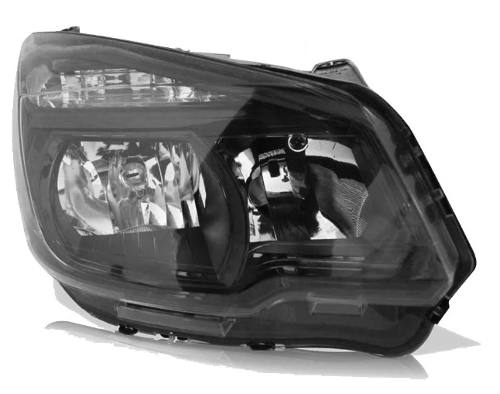 Farol S10 2012 2013 2014 2015 Mascara Negra Direito  - Kaçula Auto Peças
