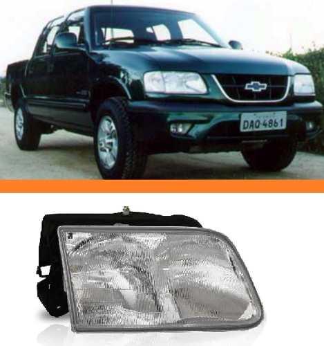 Farol S10 Blazer 95 96 97 98 99 2000 Acrilico Duplo Direito  - Kaçula Auto Peças