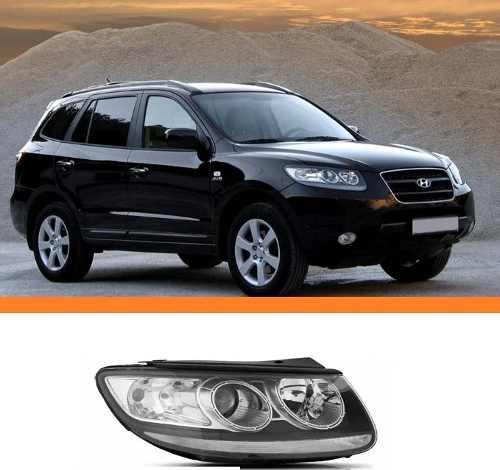 Farol Santa Fe 2007 2008 2009 2010 2011 2012 Lado Direito  - Kaçula Auto Peças