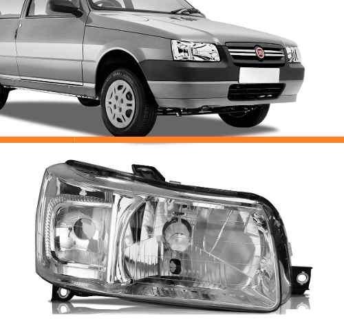 Farol Uno 2004 2005 2006 2007 2008 2009 2010cromado Direito  - Kaçula Auto Peças