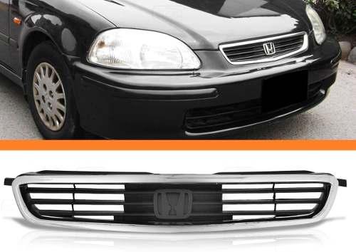 Grade Dianteira Honda Civic 96 97 98 Moldura Cromada  - Kaçula Auto Peças