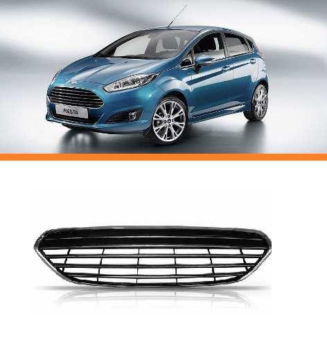 Grade Ford New Fiesta 2013 2014 2015 Crom. Preto  - Kaçula Auto Peças