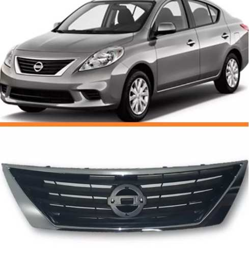 Grade Nissan Versa 2011 2012 2013 2014 Cromada  - Kaçula Auto Peças