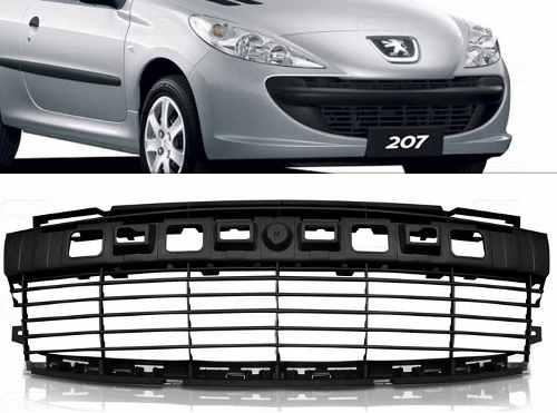 Grade Parachoque Dianteiro Peugeot 207 08 09 10 11 12 Preta  - Kaçula Auto Peças