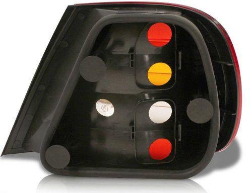 Lanterna Fiat Siena 01 02 03 Carcaça Preta Esquerda  - Kaçula Auto Peças