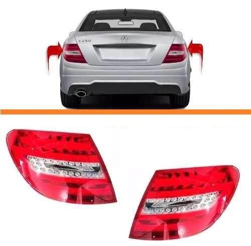 Lanterna Mercedes C180 Com Led 2012 2013 2014 Lado Esquerdo   - Kaçula Auto Peças