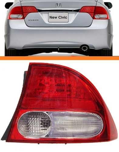 Lanterna New Civic 07 08 09 10 11 Canto Original Ld  - Kaçula Auto Peças