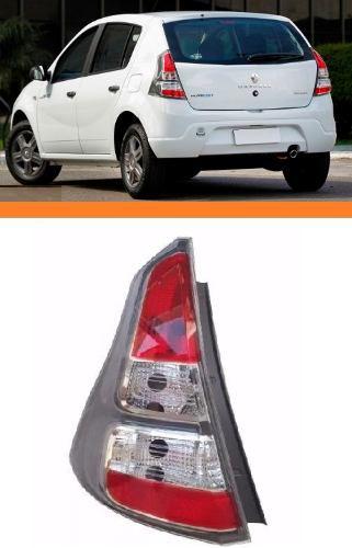 Lanterna Renault Sandero Cinza 2012 2013 2014 Esquerdo  - Kaçula Auto Peças