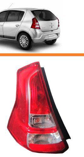 Lanterna Sandero 2012 2013 2014 - Lado Esquerdo (motorista)  - Kaçula Auto Peças