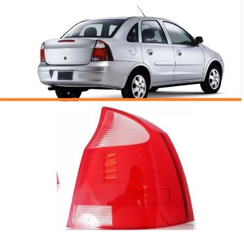 Lanterna Traseira Corsa Sedan  2003/2012  Branca Ld  - Kaçula Auto Peças