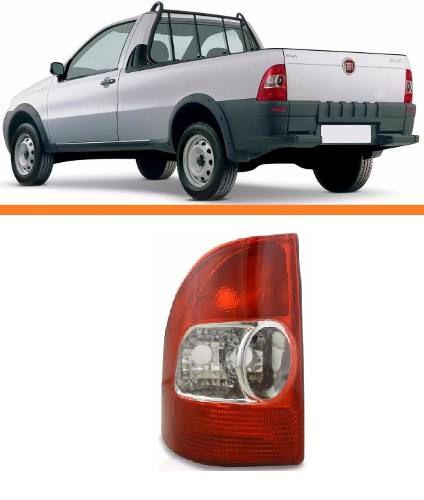 Lanterna Traseira Fiat Strada 99 2000 01 2002 2003 Esquerda  - Kaçula Auto Peças