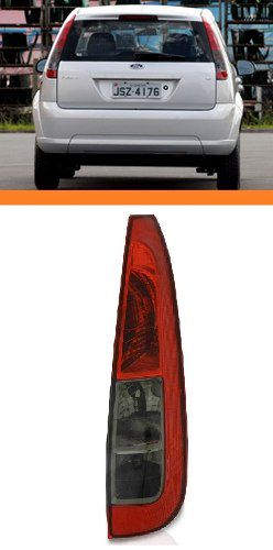 Lanterna Traseira Fiesta Hatch 2008/2012 Rubi/fume Ld Ford  - Kaçula Auto Peças
