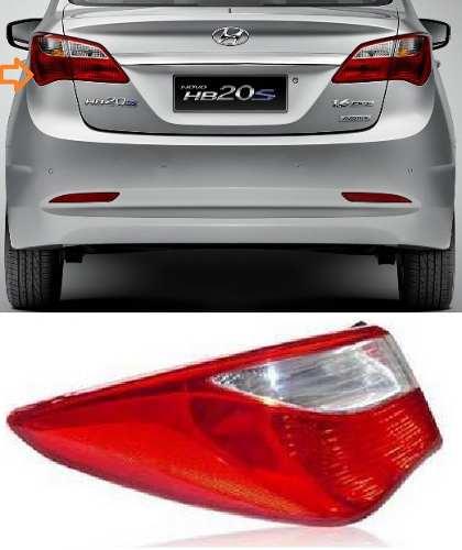 Lanterna Traseira Hb20 Sedan12 13 14 Canto Original Esquerdo  - Kaçula Auto Peças