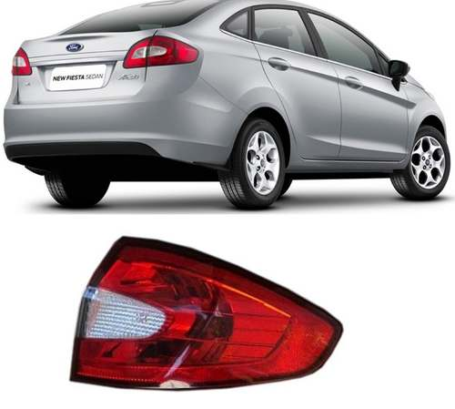 Lanterna Traseira New Fiesta 2011 12 13 14 Sedan Direita  - Kaçula Auto Peças