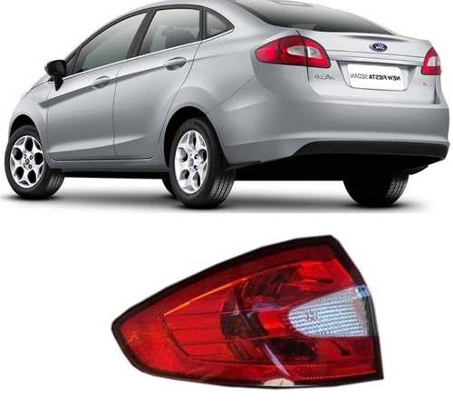 Lanterna Traseira New Fiesta 2011 12 13 Sedan Esquerda  - Kaçula Auto Peças