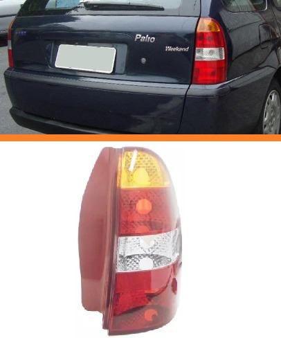 Lanterna Traseira Palio Weekend 2001 2002 2003 Direito Verm  - Kaçula Auto Peças