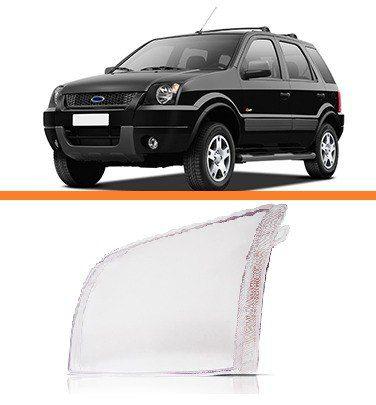 Lente Farol Ecosport 2003 2004 2005 2006 2007 Esquerdo  - Kaçula Auto Peças