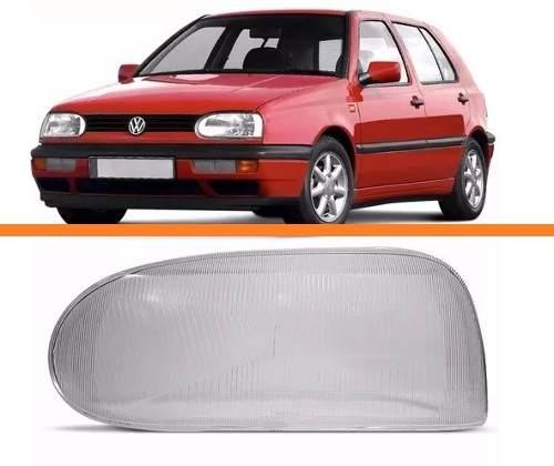 Lente Farol Golf Duplo 1993 1994 1995 1996 1997 Esquerdo  - Kaçula Auto Peças